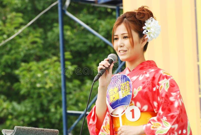 Красотка Miss Fuji на основной ступени в японии стоковое изображение rf