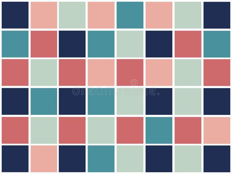 Красочная абстрактная геометрическая картина с квадратами иллюстрация вектора