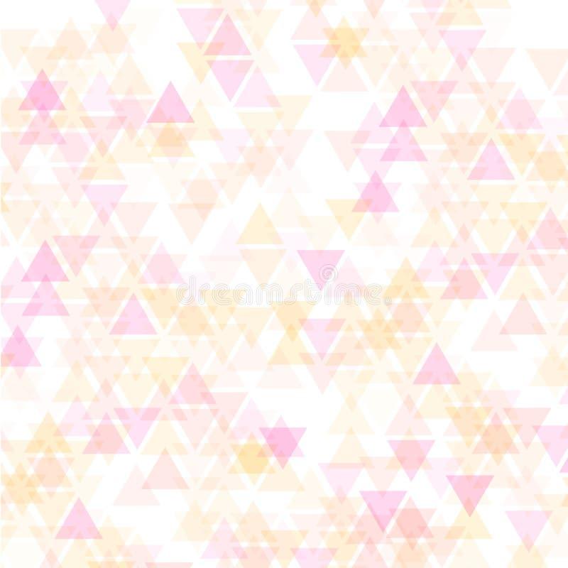 Красочная абстрактная геометрическая предпосылка дела, горячий пинк и цвета желтого золота оранжевые, прозрачные треугольники, иллюстрация штока