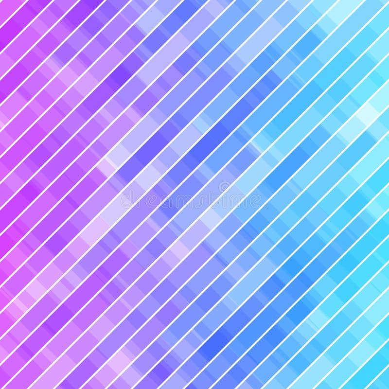 Красочная абстрактная геометрическая предпосылка дела Мозаика фиолета, розовых и голубых геометрических форм случайная иллюстрация штока