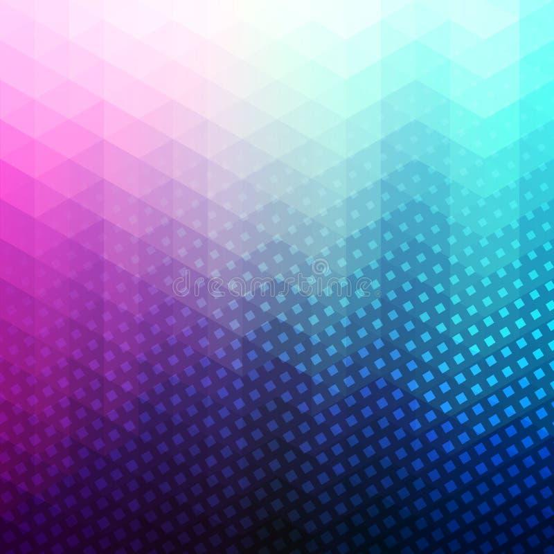 Красочная абстрактная геометрическая предпосылка вектора иллюстрация вектора