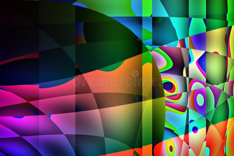 Красочная абстрактная иллюстрация предпосылки бесплатная иллюстрация