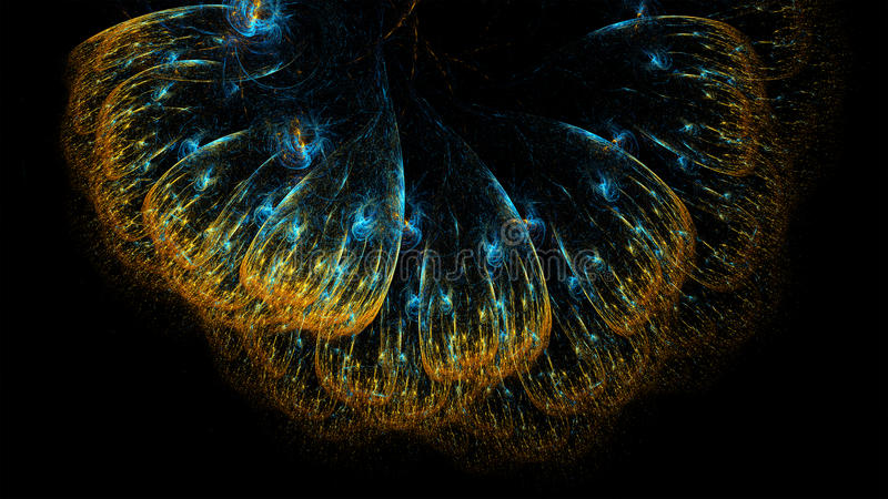 Красочная абстрактная иллюстрация фрактали иллюстрация вектора