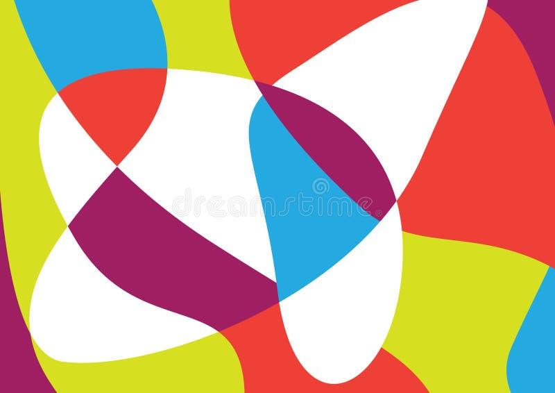Красочная абстрактная картина вектора стоковая фотография