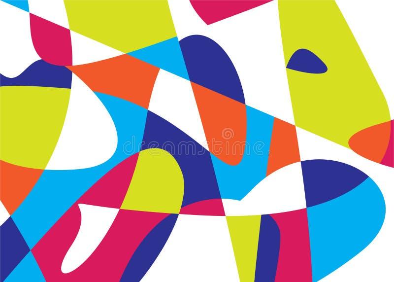 Красочная абстрактная картина вектора стоковые изображения