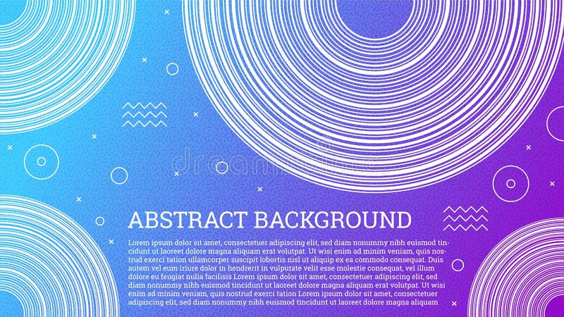 Красочная абстрактная предпосылка Мемфиса Современная смешная предпосылка с геометрическими формами и ультрамодным градиентом Тво бесплатная иллюстрация