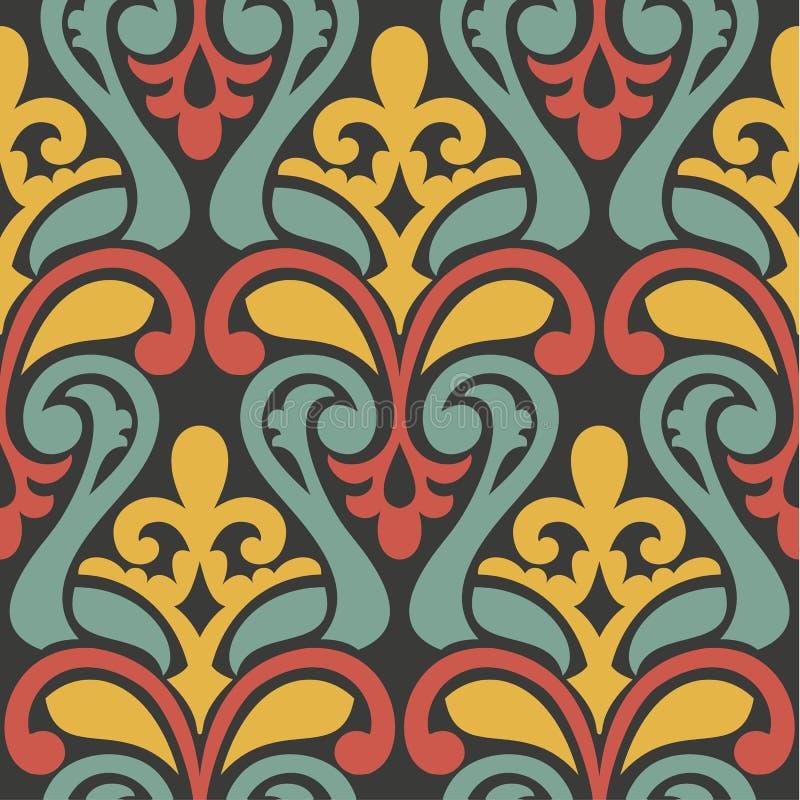 Красочная абстрактная ретро безшовная геометрическая картина иллюстрация вектора