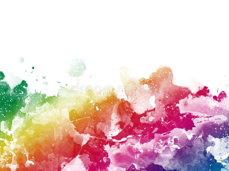 Красочная абстрактная художественная предпосылка краски акварели стоковая фотография