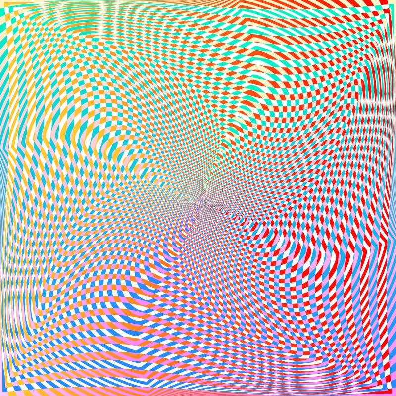 Красочная абстрактная яркая предпосылка с волнистыми переплетенными линиями и формами Декоративная текстура дизайна иллюстрация вектора