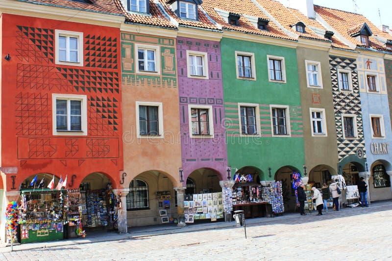 Красочная архитектура в Poznan стоковые фото