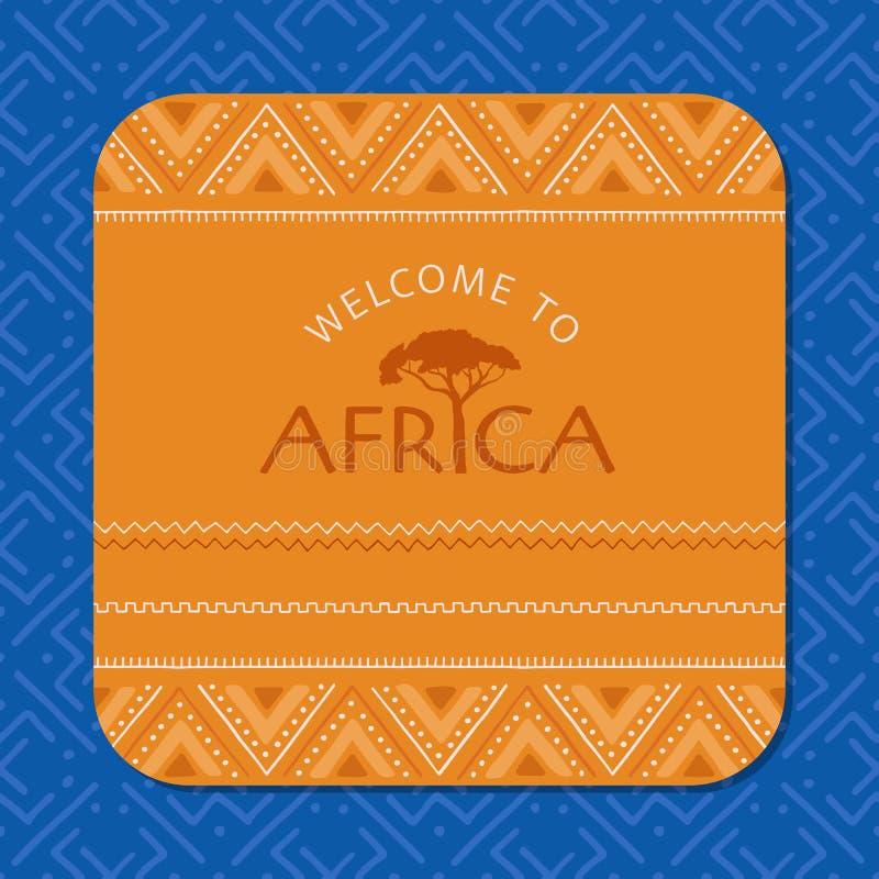 Красочная африканская карта Племенная предпосылка, безшовная геометрическая картина бесплатная иллюстрация