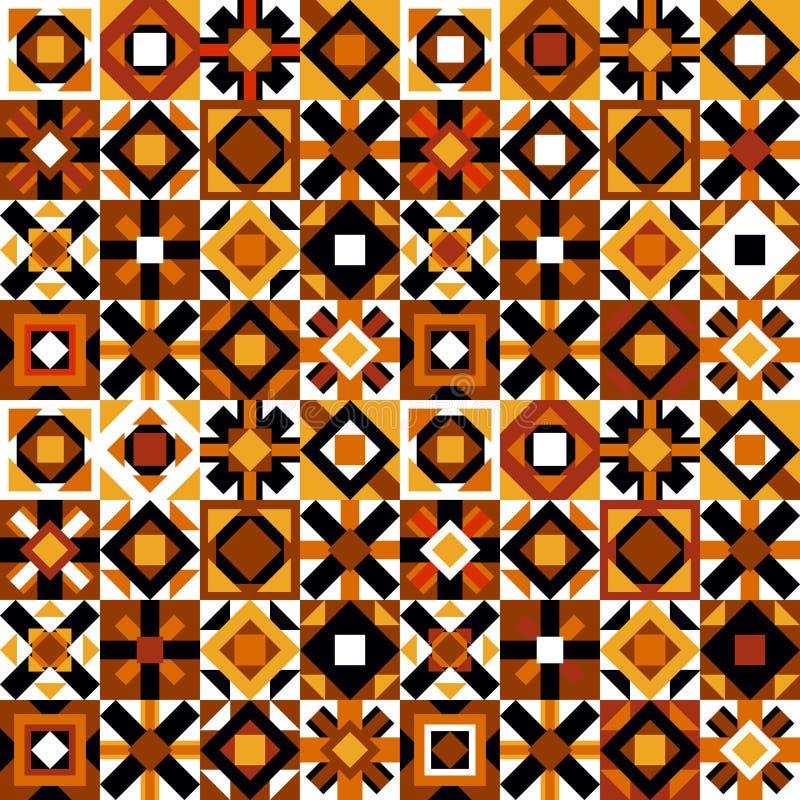Красочная безшовная картина с геометрическими диаграммами иллюстрация штока