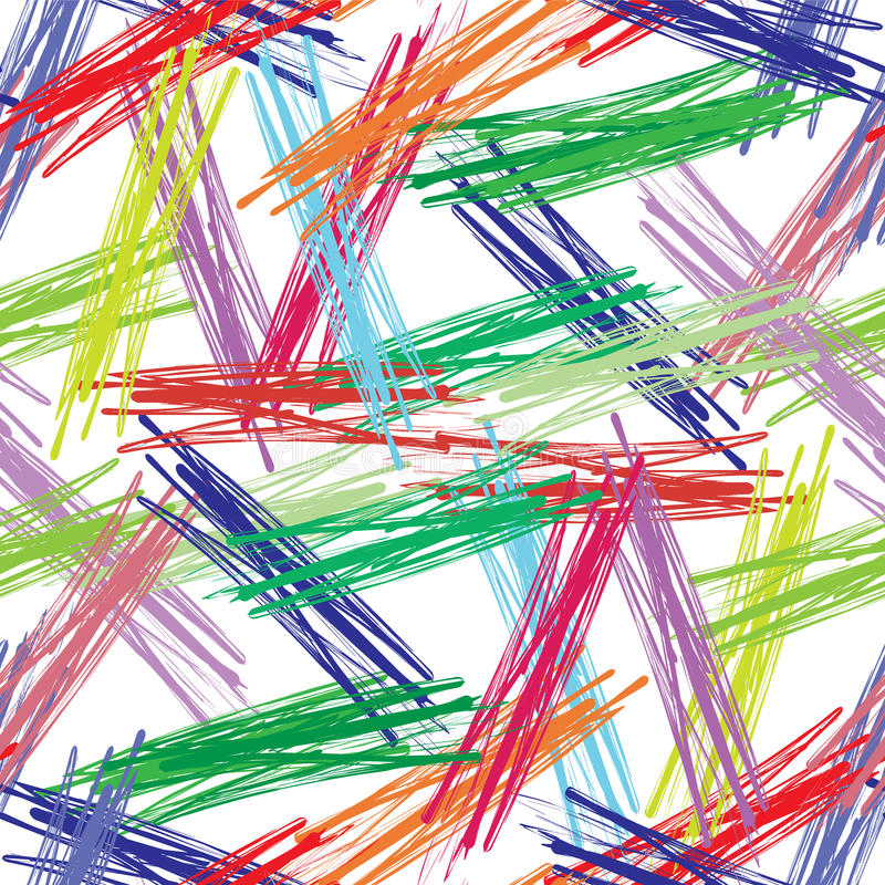 Красочная безшовная предпосылка красочных щеток бесплатная иллюстрация