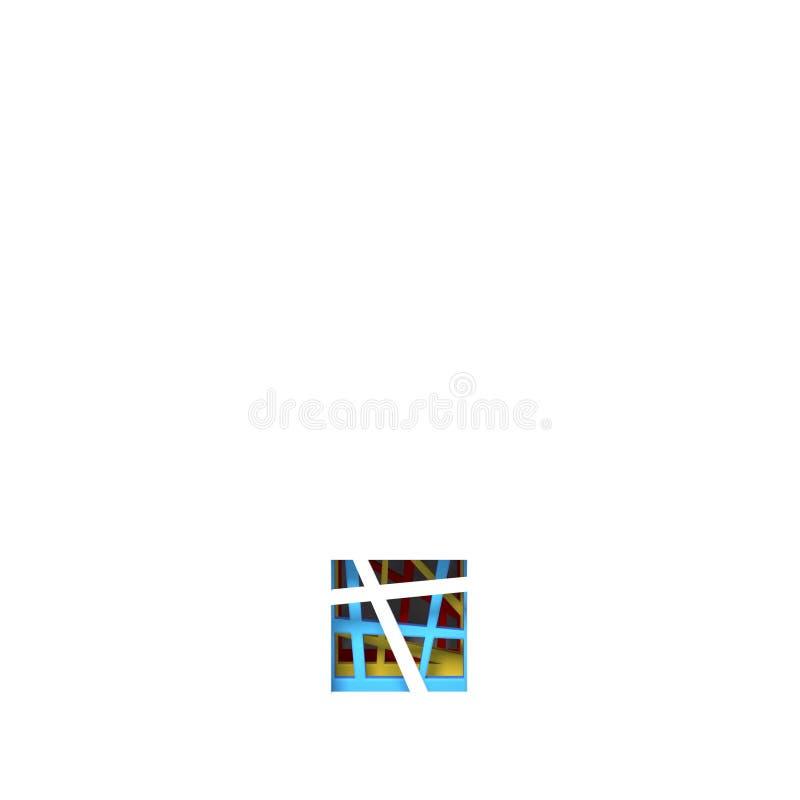 Красочная бумага отрезала вне ПЕРИОД 3D шрифта иллюстрация вектора