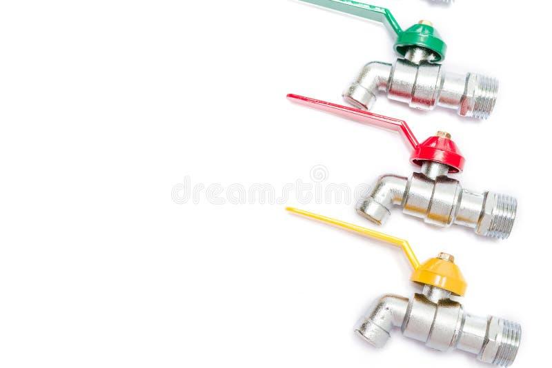 Красочная вода Faucet стоковая фотография rf