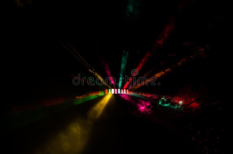 Красочная выставка света DJ стоковые фото