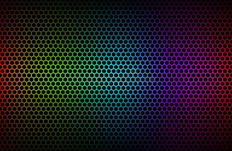 Красочная геометрическая предпосылка шестиугольников иллюстрация штока