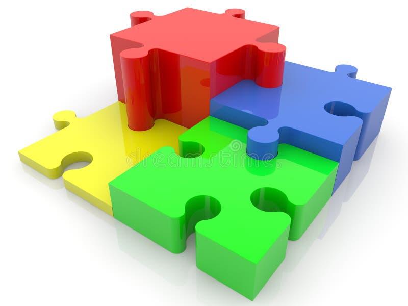 Красочная головоломка, долевая диограмма успеха концепции бесплатная иллюстрация