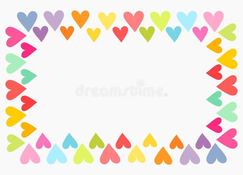 Красочная граница сердца бесплатная иллюстрация