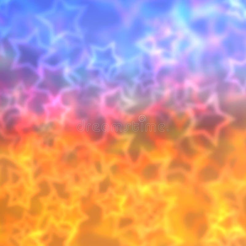 Красочная запачканная предпосылка звезд стоковое изображение