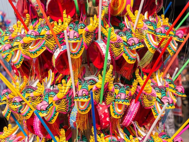 Красочная игрушка дракона на китайский Новый Год стоковое фото rf