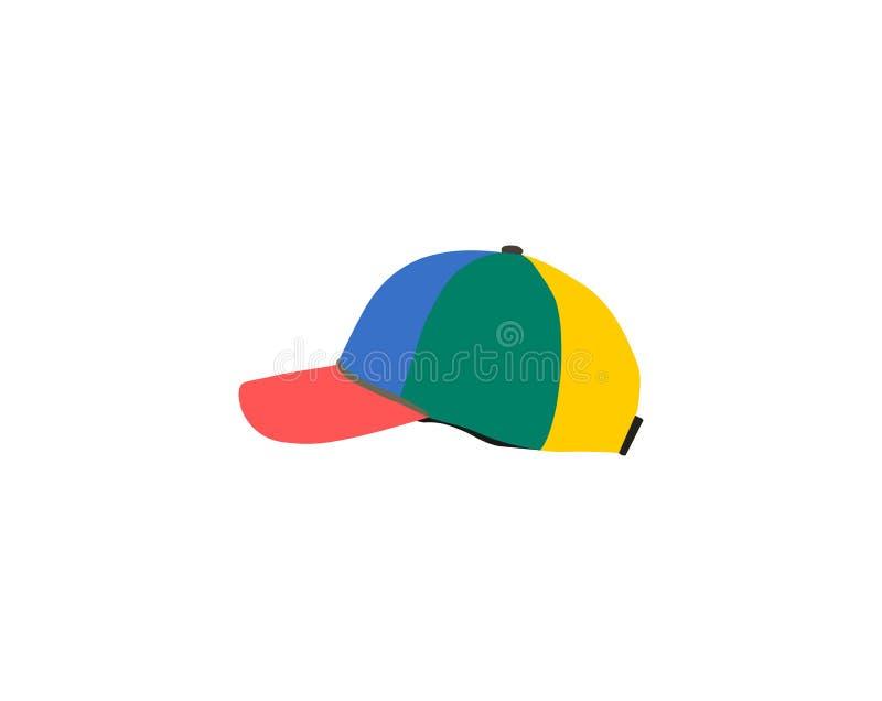 Красочная изолированная бейсбольная кепка моды иллюстрация вектора
