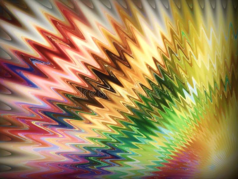 Красочная иллюстрация в разнообразном стиле с специальным эффектом стоковое изображение