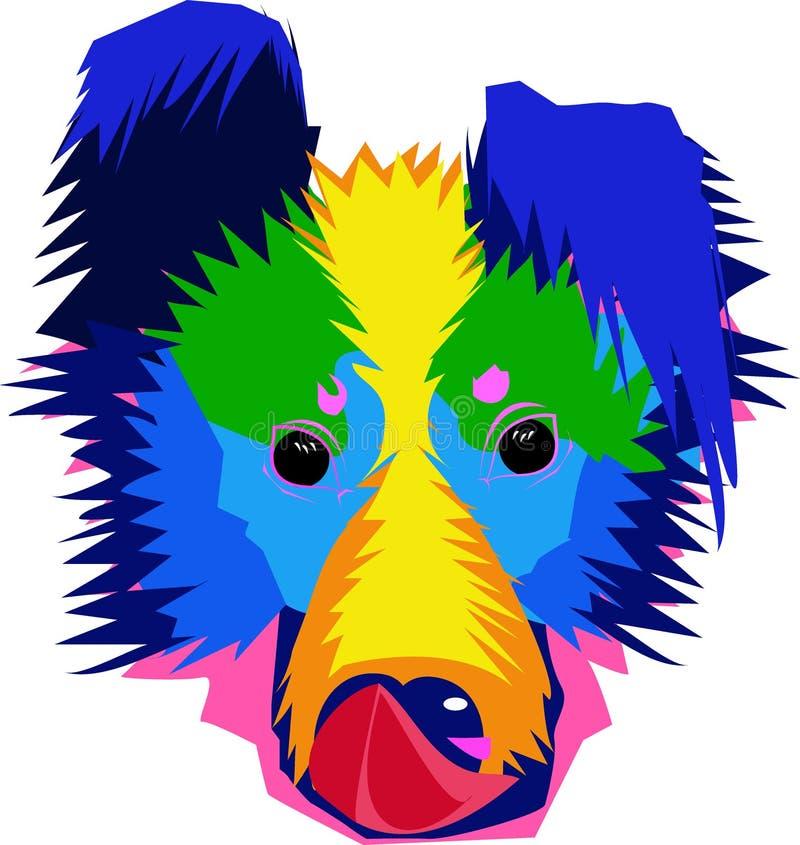 Красочная иллюстрация собаки стоковые изображения