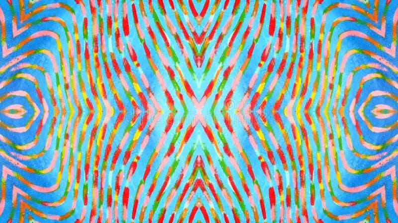 Красочная и волнистая декоративная картина иллюстрация вектора