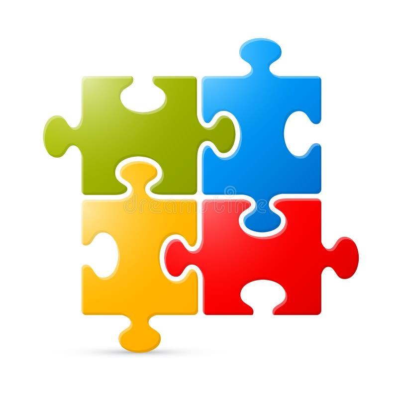 Красочная иллюстрация вектора головоломки иллюстрация вектора
