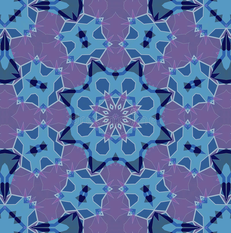 Красочная картина калейдоскопа, абстрактный дизайн иллюстрация вектора