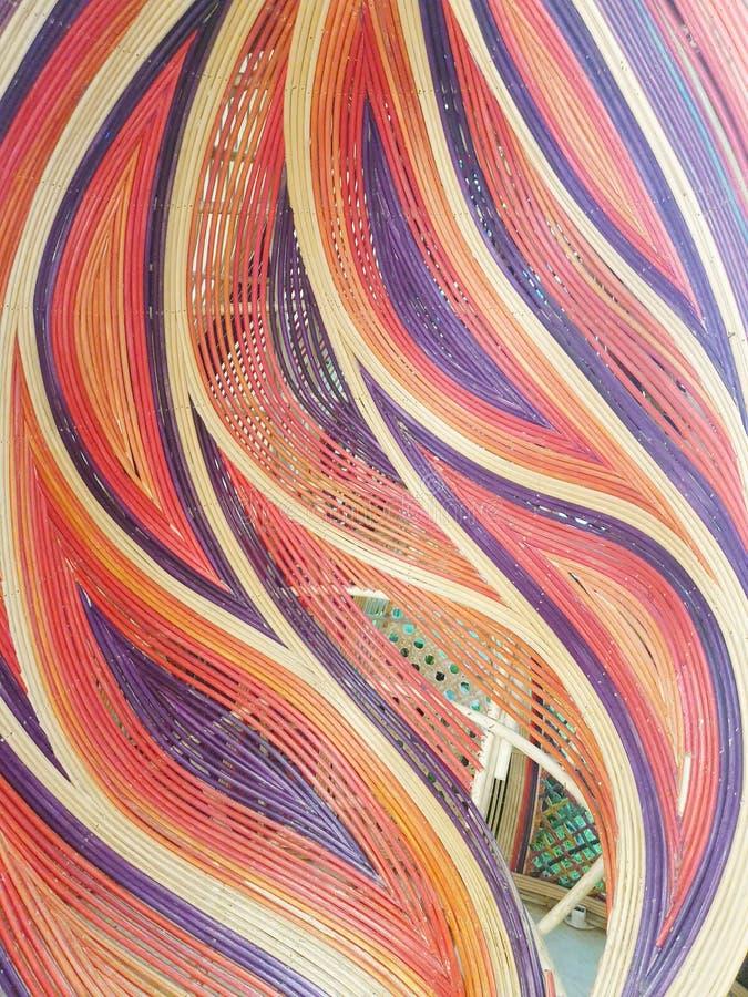 Красочная картина кривой стоковые фотографии rf