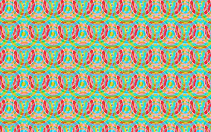 Красочная картина кругов в зеленой, голубом, желтой и красной бесплатная иллюстрация