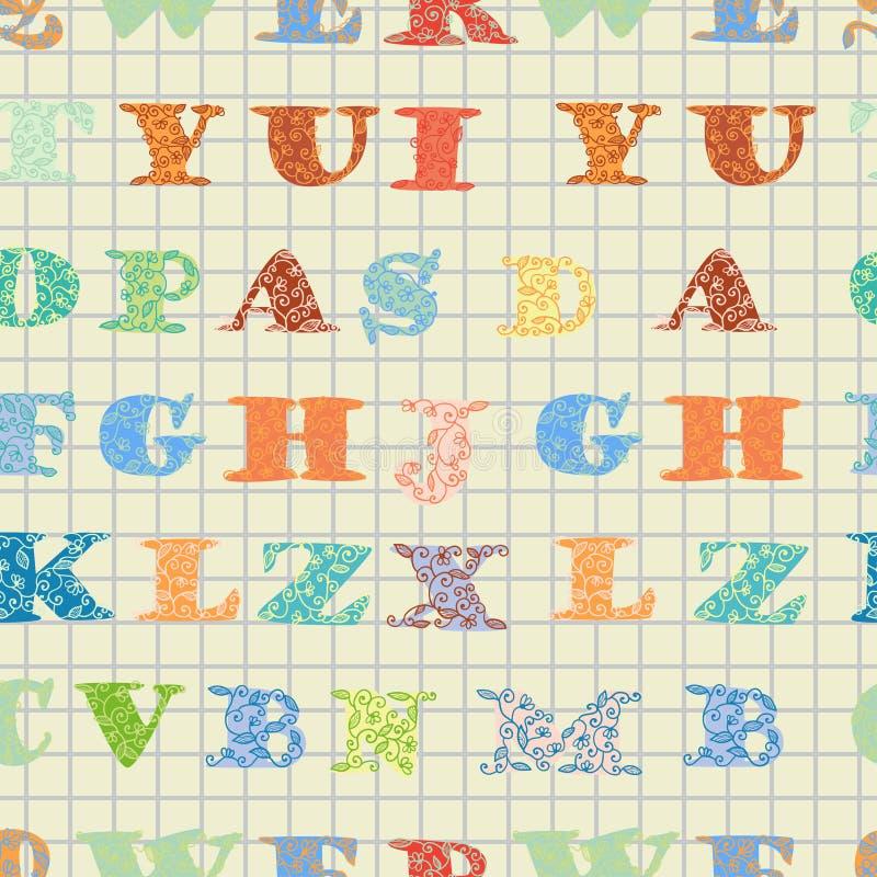Красочная картина с английскими флористическими письмами, бесплатная иллюстрация