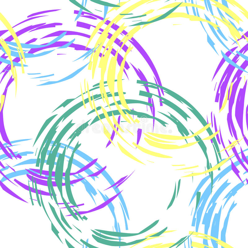 Красочная картина с кругами иллюстрация штока