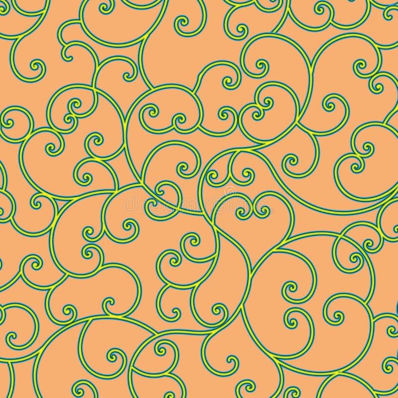 Красочная картина эффектной демонстрации над пастельной оранжевой предпосылкой иллюстрация штока