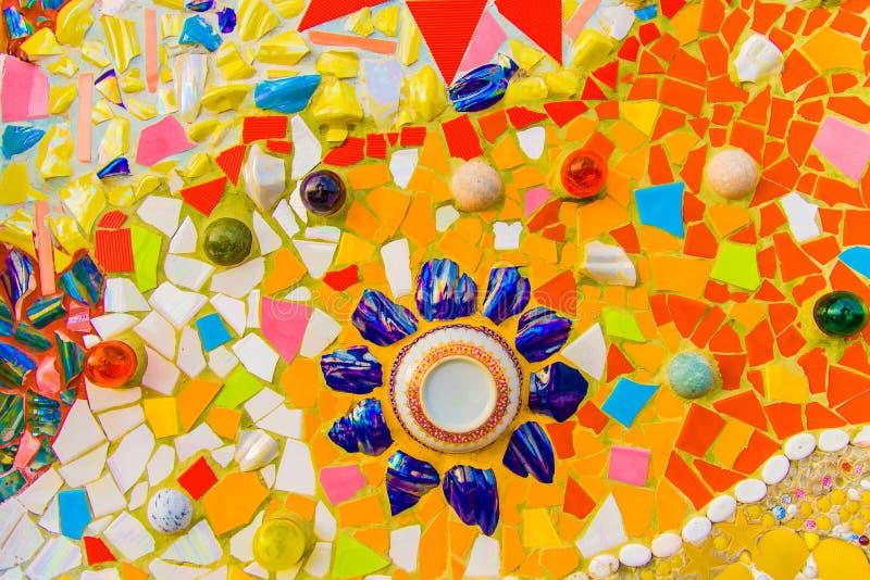 Красочная керамическая плитка мозаики стоковая фотография