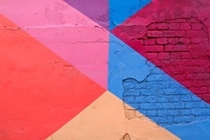 Красочная кирпичная стена как предпосылка, текстура стоковое изображение rf