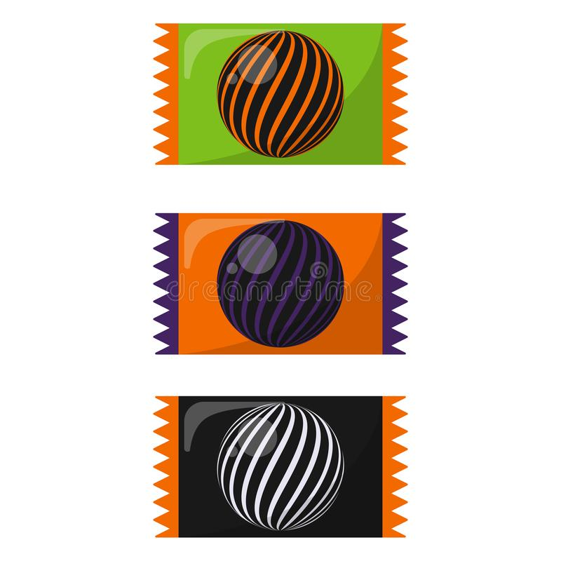 Красочная конфета хеллоуина иллюстрация вектора