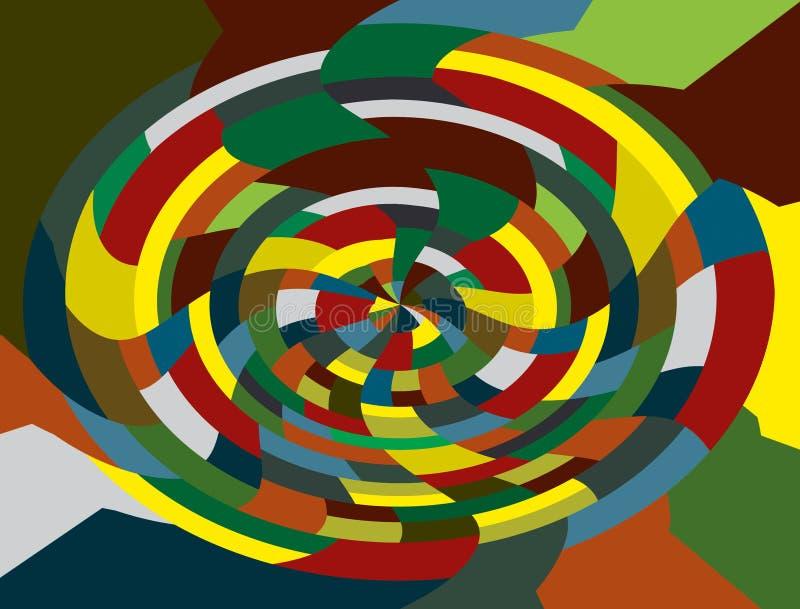 Красочная мозаика фантазии иллюстрация штока