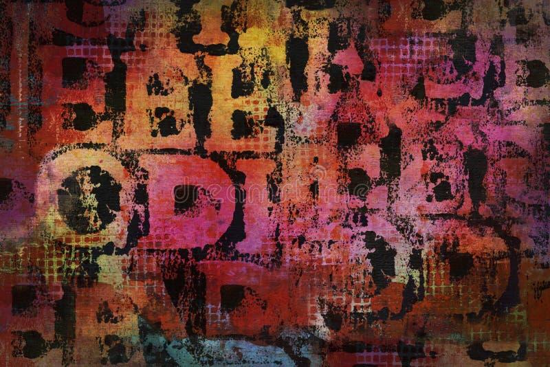 Красочная огорченная текстура части текста стоковое фото rf