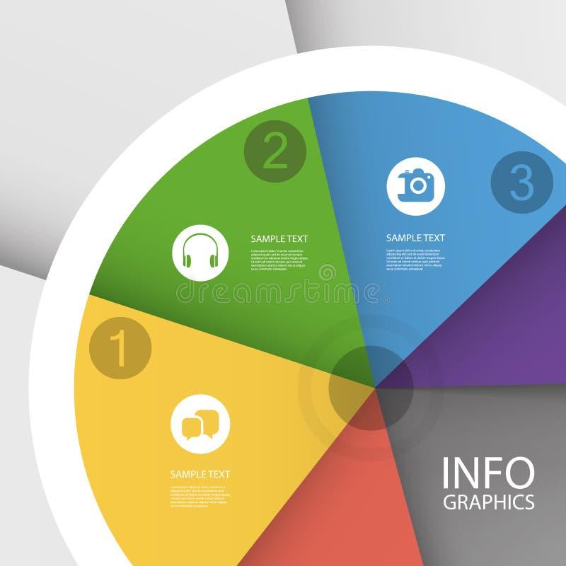 Красочная долевая диограмма дела - дизайн Infographic бесплатная иллюстрация