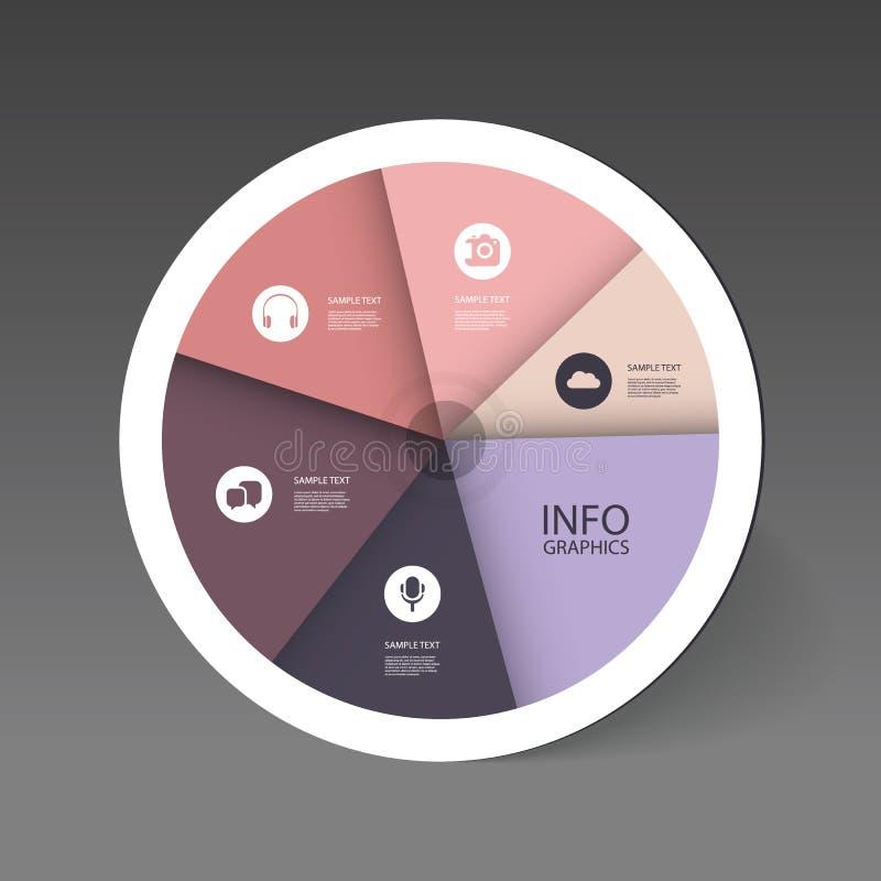 Красочная долевая диограмма - дизайн Infographic бесплатная иллюстрация
