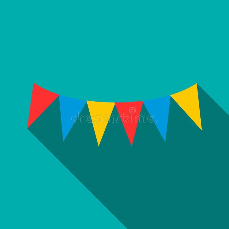 Красочная партия сигнализирует значок, плоский стиль бесплатная иллюстрация