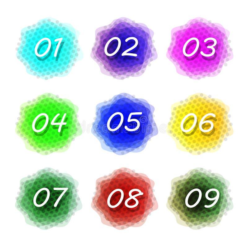 Красочная предпосылка выплеска акварели Элементы вектора для плакатов иллюстрация вектора