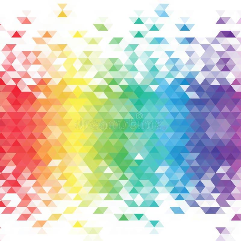 Красочная предпосылка мозаики решетки, творческие шаблоны дизайна 10 eps иллюстрация штока