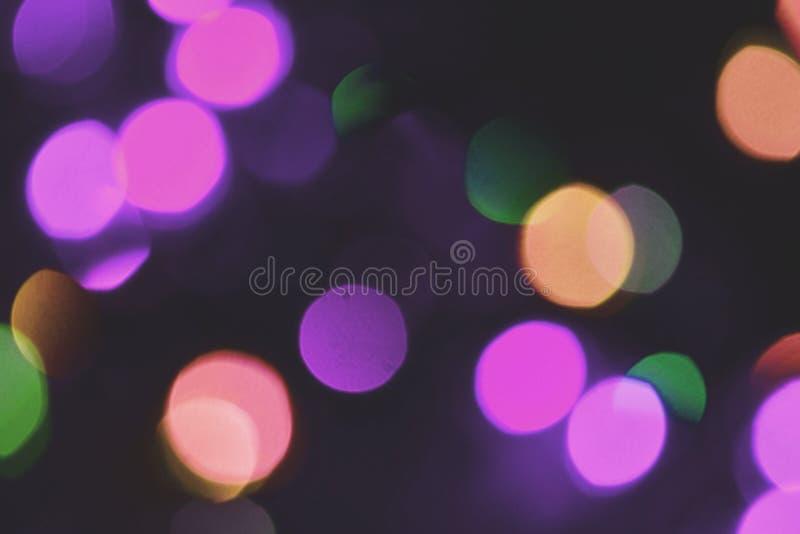 Красочная предпосылка bokeh светов, Chrismas стоковое изображение