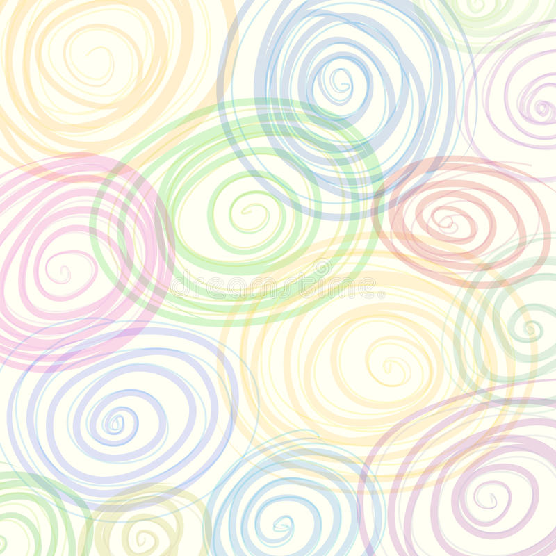 Красочная предпосылка вектора конспекта свирли бесплатная иллюстрация