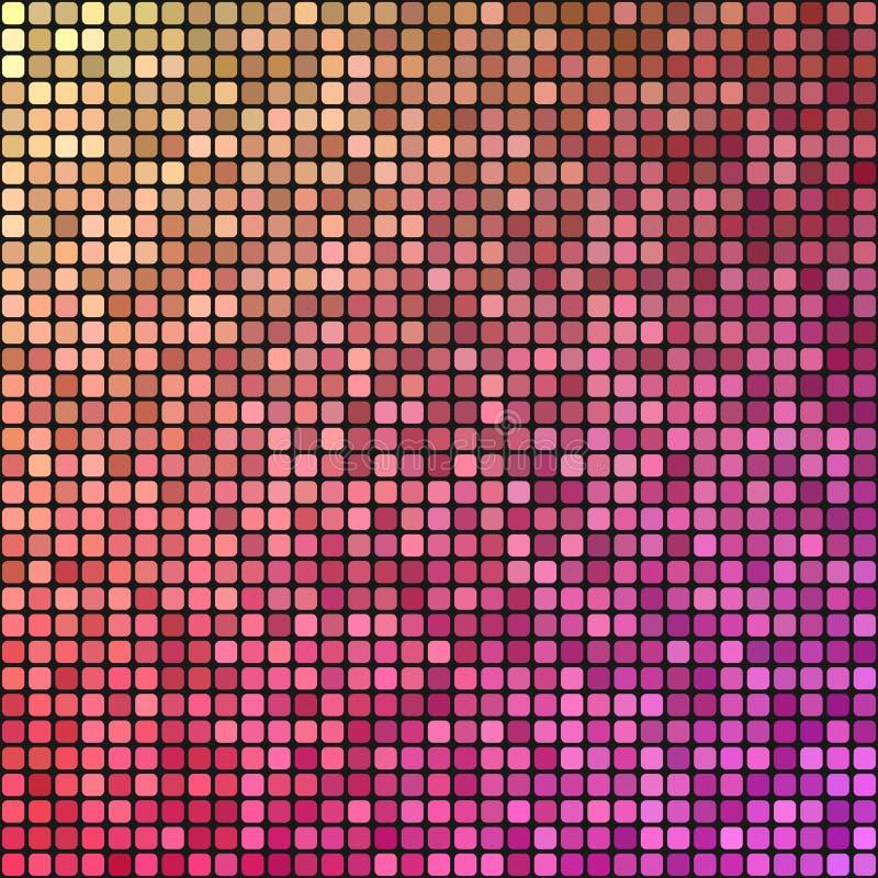 Красочная предпосылка дизайна мозаики пиксела бесплатная иллюстрация