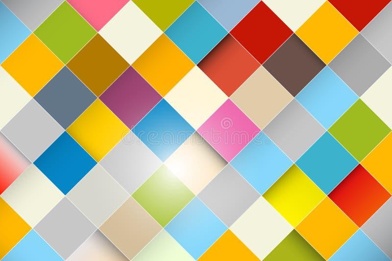 Красочная предпосылка квадрата конспекта вектора бесплатная иллюстрация